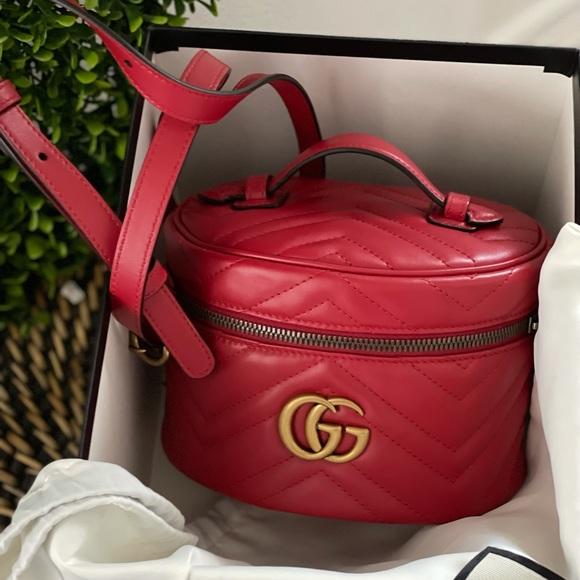 NIB Gucci Marmont mini backpack red